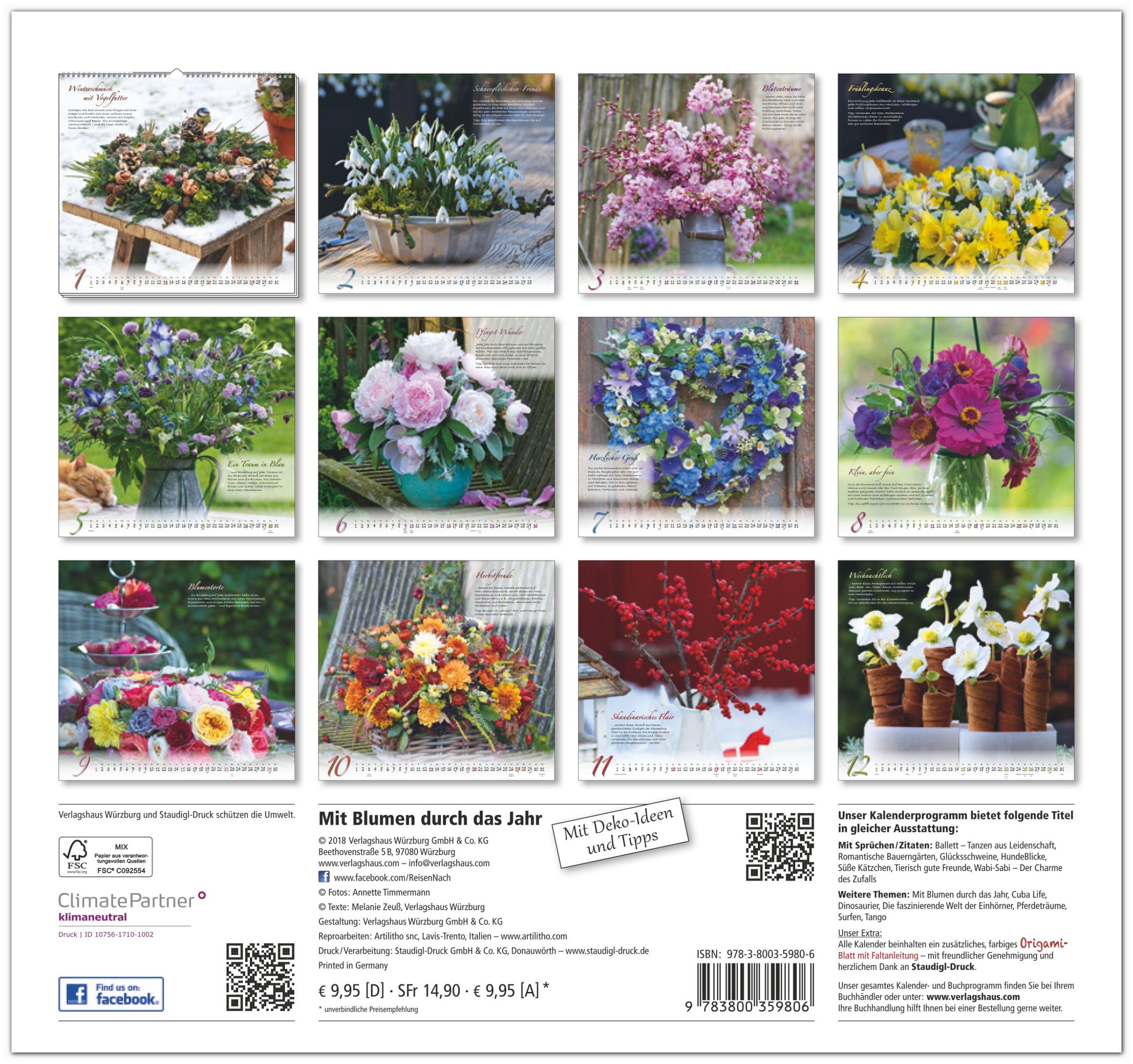 Mit Blumen durch das Jahr - Deko-Ideen für ihr Zuhause - Original ...
